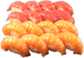 Foto Sake and maguro nigiri mix